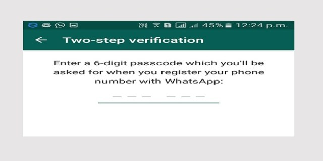 enter 2 step verification password