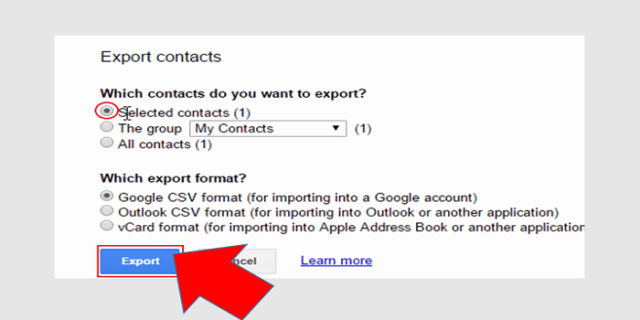 export csv file