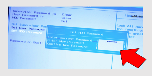 hard disk password remove