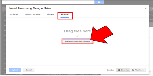 upload files in google drive