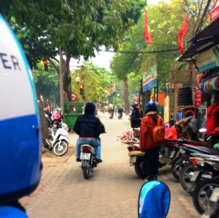 Uber Moto Ride in Hanoi Vietnam | catching carla