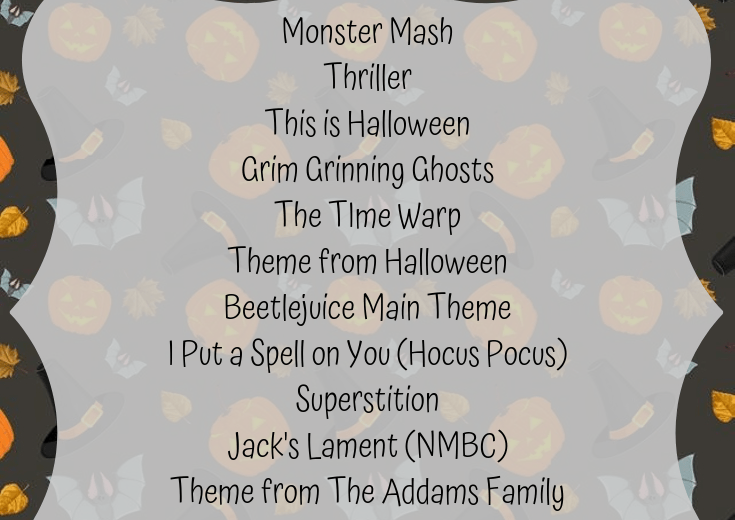 Halloween playlist songs
