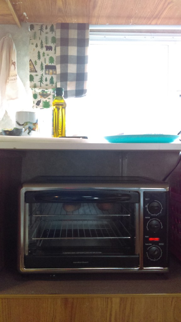 Toaster oven in a camper