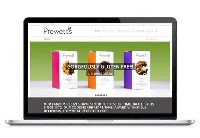 Prewetts Biscuits website