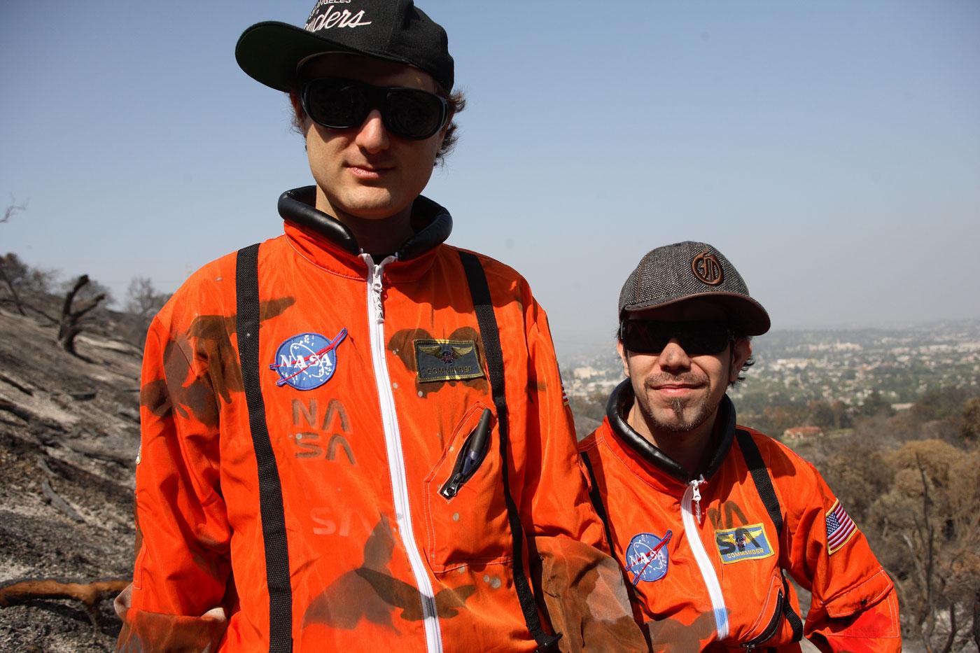 DJ Zegon and Squeak E. Clean: Aeronautical enthusiasts, presumably...