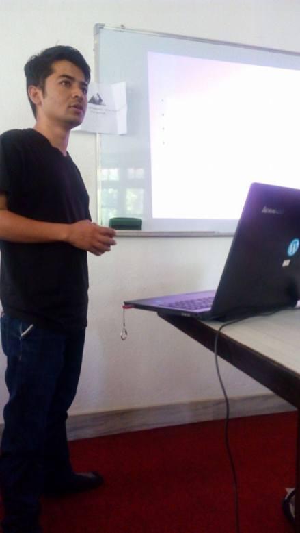 Suwash Kunwar during his presentation