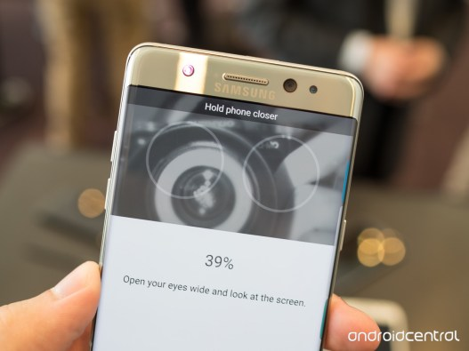 Iris Scanning. Image Credit: http://www.androidcentral.com/