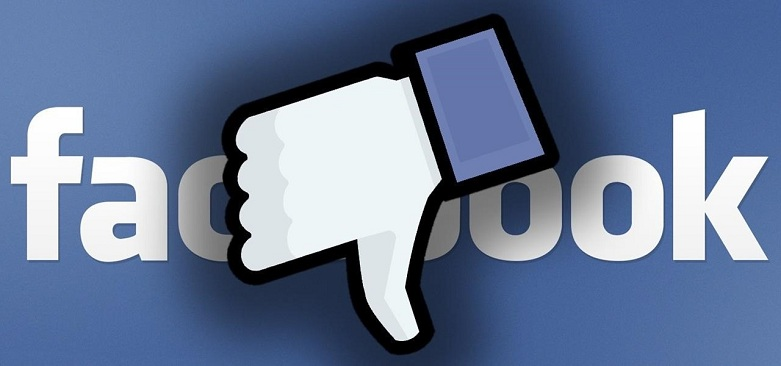 Thumbs Down on Facebook.