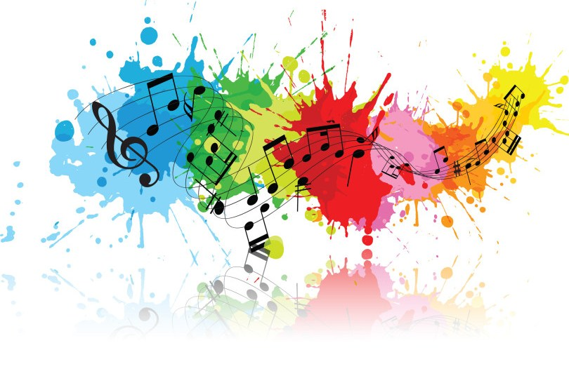 Benefits of Listening to Music. In photo: music-color-splash