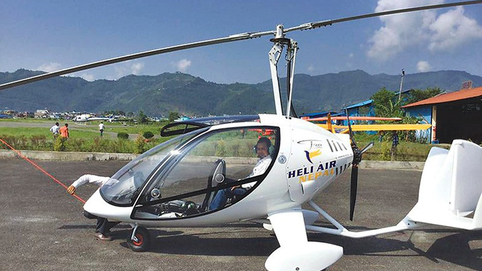 Gyrocopter in Pokhara. Image Source: The Kathmandu Post