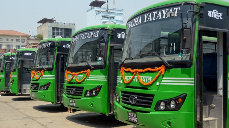 NPR. 50 Million Handed to Sajha to Purchase 13 Buses. Image Credit: Glocal khabar