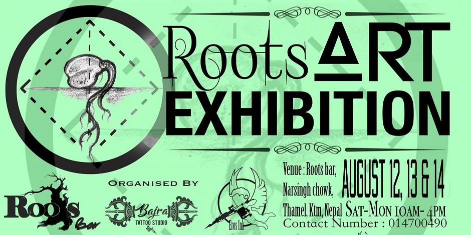 Roots Art Exhibition banner. Image Source: Facebook