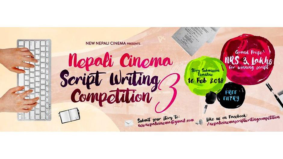 New Nepali Cinema—Script Writing Competition. Image Source: Facebook