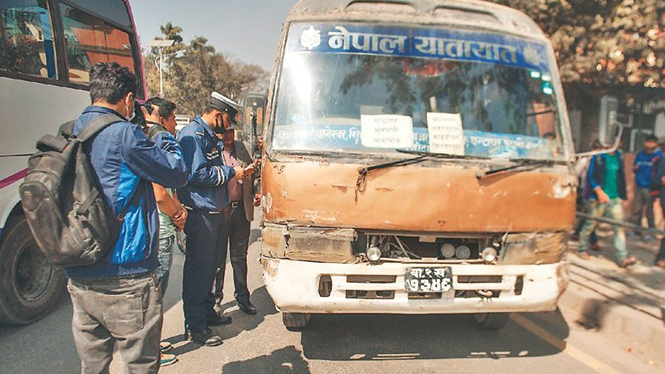 old public vehicles to be banned countrywide. Image Credit: The Kathmandu Post