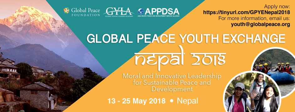 Global Peace Youth Exchange 2018 | Nepal. Image Source: Facebook