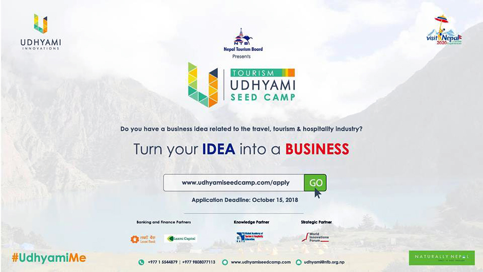 Tourism Udhyami Seed Camp 2018. Image Source: Facebook
