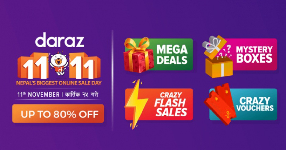 Daraz 11.11, Nepal's Biggest Online Sale Day. Image Source: Daraz