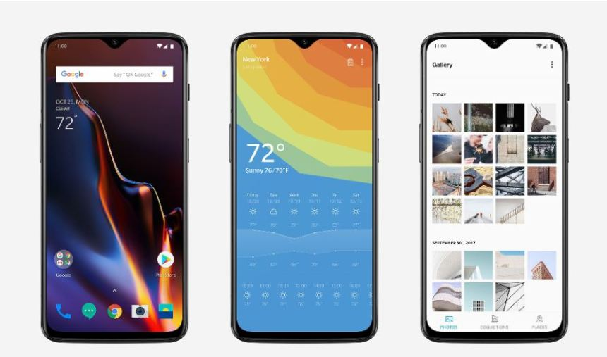 Android Pie - OxygenOS. Image Source: OnePlus