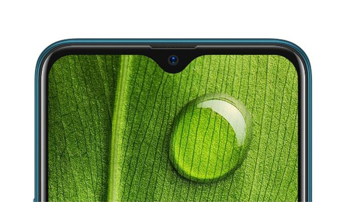 Waterdrop Notch. Image Source: Oppo