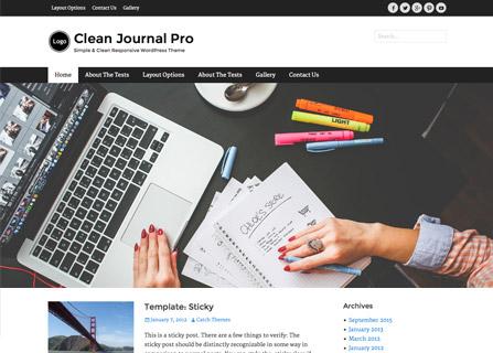Clean Journal Pro Theme Screenshot