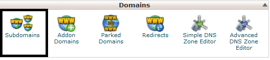 Create Subdomain using cPanel 1