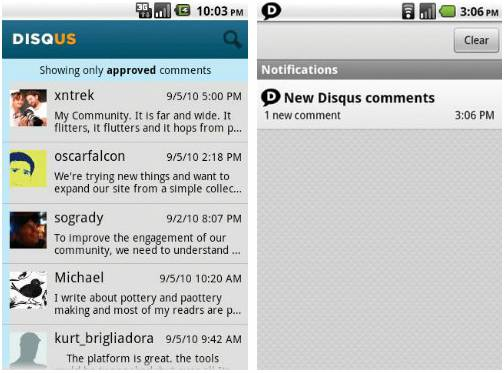 Disqus Mobile Apps for bloggers