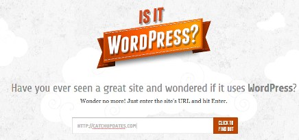 to check if website uses wordpress 2