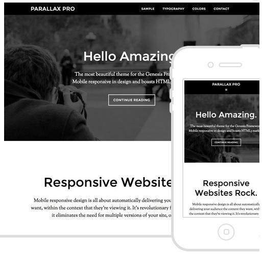Parallax Pro Theme - WordPress Genesis Themes