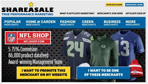 ShareASale Affiliate Program 1