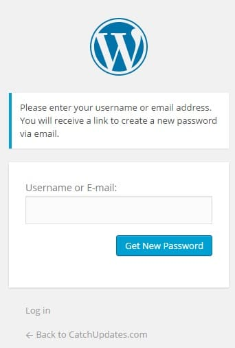 Recover Lost WordPress Password 1