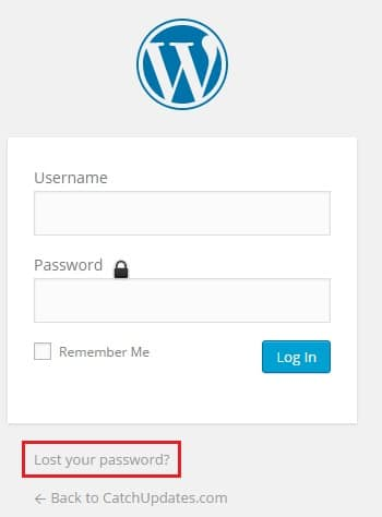 Recover Lost WordPress Password
