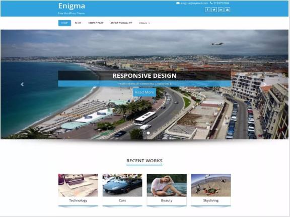 Enigma Best Free WordPress Themes