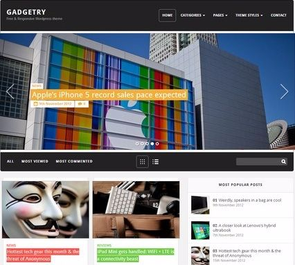 Gadgetry - Best Free WordPress Themes