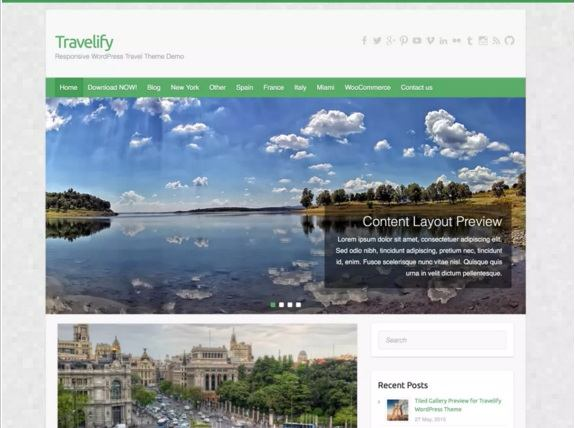 Travelify - Best Free WordPress Themes