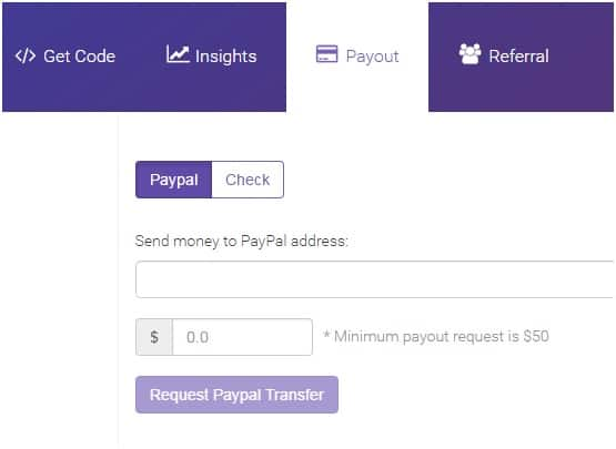 AdsOptimal Ad network Payout