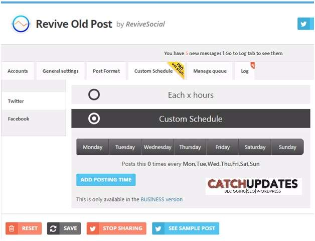 Revive Old Post Plugin - Custom Schedule