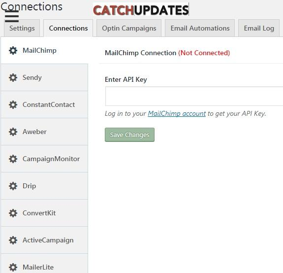 MailOptin Connections Setting