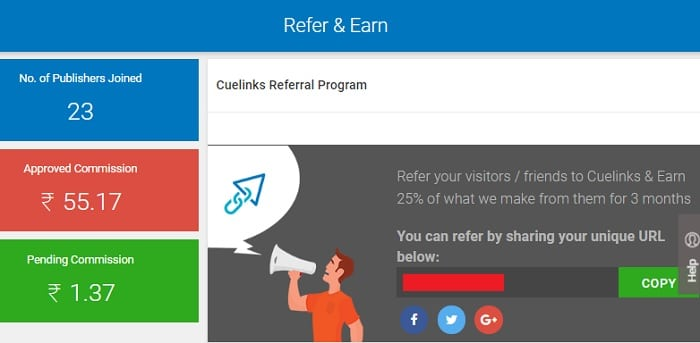 Cuelinks Referral Program