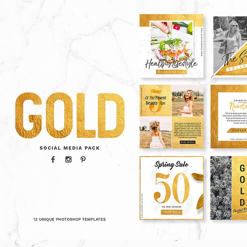 GOLD Pack Social Media Template