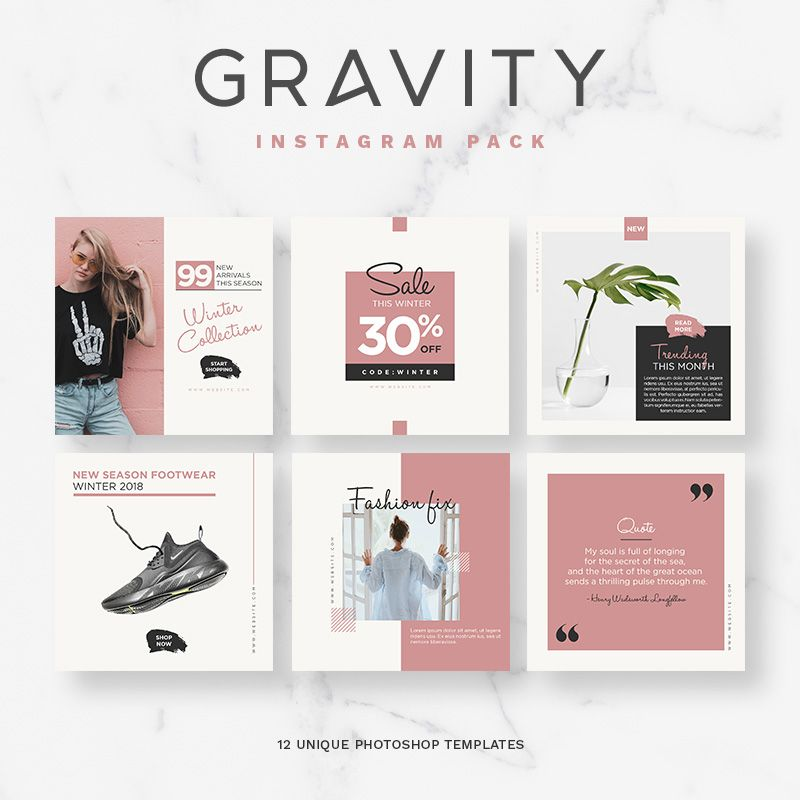 Gravity Instagram Pack Template