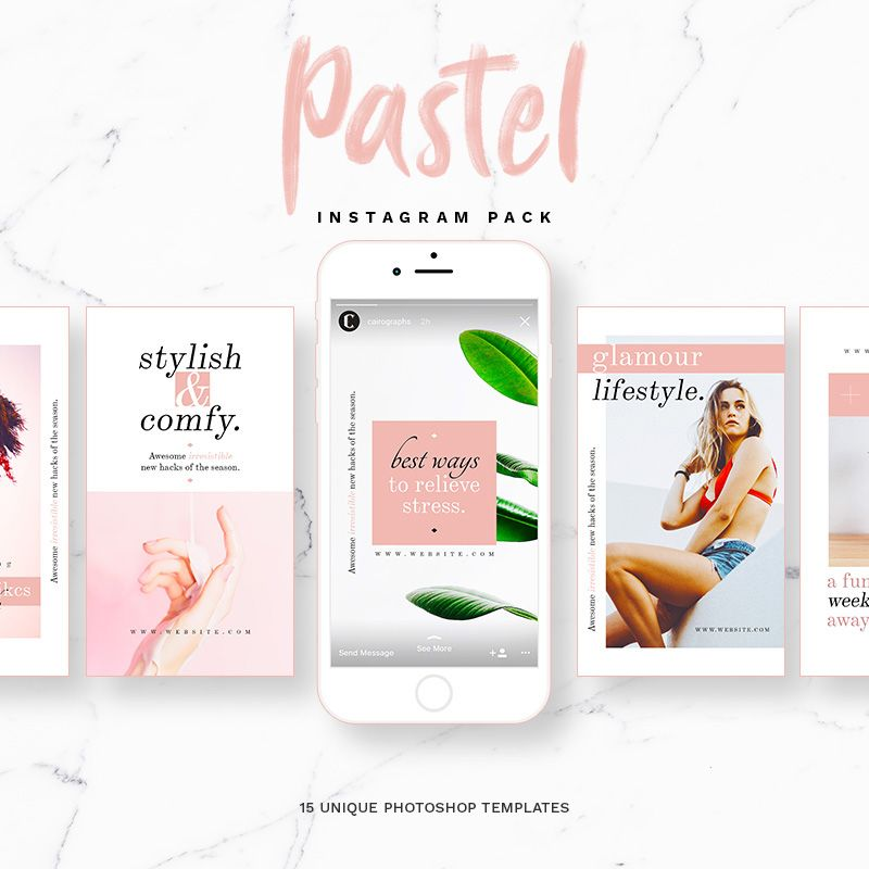 Pastel Instagram Stories & Posts Template
