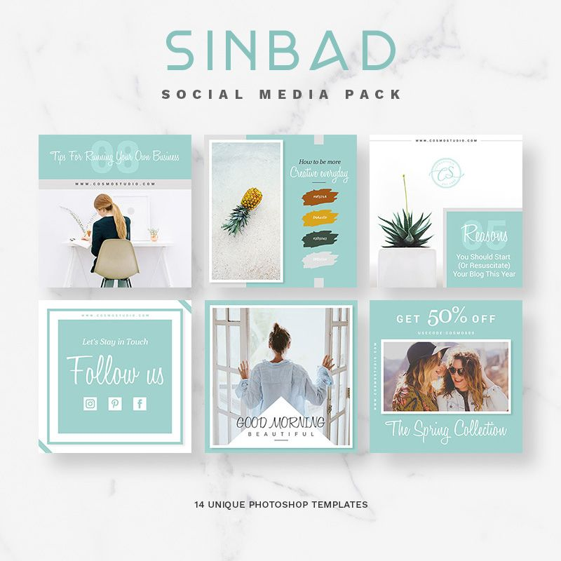 SINBAD Social Media Pack - Best Social Media Templates