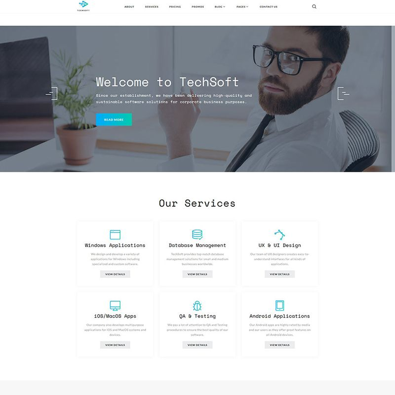 Business Software Multipage Premium HTML5 Templates