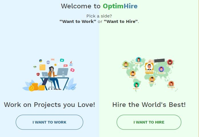 OptimHire Review - best website for hiring freelancers and developers
