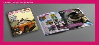 Catálogo Game-Centro Mail. Catálogo trimestral de vídeojuegos y consolas para tiendas GAME. Quarterly catalog for GAME Videogame specialised shops.