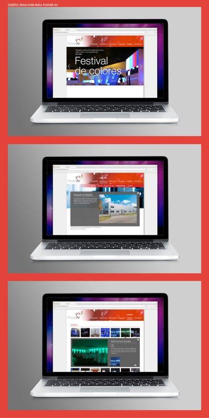 Diseño web Power AV. Web design for Power AV.