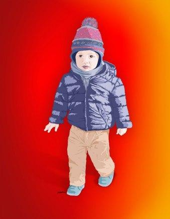 Illustration kid. Ilustración niño. Ilustración vectorial de un niño. Vector illustration of a kid.