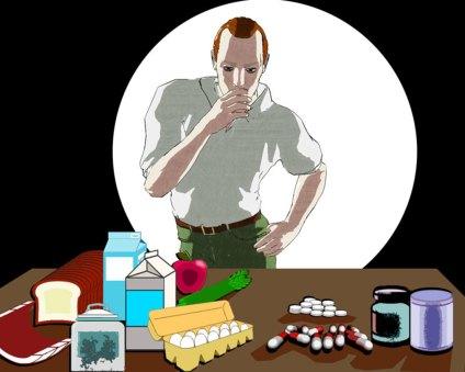 Ilustración vitaminas. Vitamin Illustration