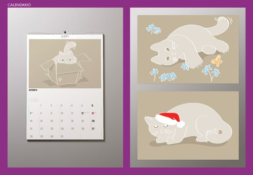 Calendario 01 CATIFY. Uno de nuestros calendarios de pared de nuestra marca registrada CATIFY®. A wall calendar by our trademark CATIFY®.