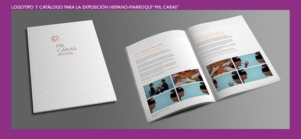 Catálogo exposición hispano marroquí Mil Caras. Diseño de logotipo y folleto para la exposición. Logo and brochure design for Mil Caras exhibition.